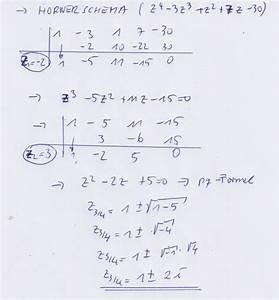 Nullstellen Berechnen Polynomdivision : nullstellen nullstellen einer komplexen polynomfunktion mathelounge ~ Themetempest.com Abrechnung