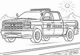 Coloring Police Truck Mounted sketch template