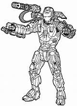 Coloring War Machine Marvel Avengers Superhero Rhodes Rupert James Captain Colouring Sheets Drawings sketch template