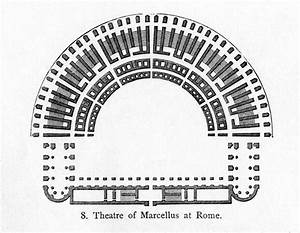 Floor Plan, Theatre of Marcellus (Illustration) - Ancient ...