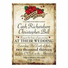 fifties rock and roll wedding on pinterest peacock With rock n roll wedding invitations uk