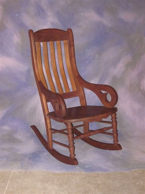 made slat back rocking chair by schanz furniture and