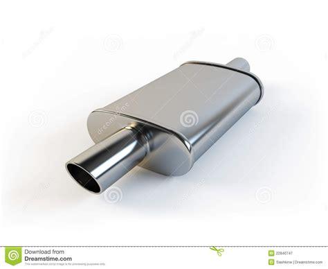 Car Muffler Stock Illustration. Image Of Chrome, Part