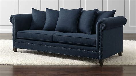 who manufactures crate and barrel sofas durham navy blue couch with nailheads crate and barrel