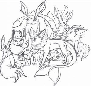 Eevee Family Evolution by luckyferret06 on DeviantArt