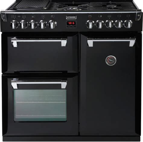 buy stoves richmond 900dft black 90cm dual fuel range cooker 444440195 marks electrical