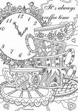 Coloring Adult Printable Favoreads Coffee Quote Sheets sketch template