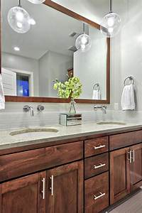 Gorgeous, Wood, Vanity, In, Bright, Transitional, Bathroom