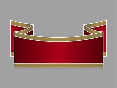 Ribbon Banner Template Retro Clipart Vector Cliparts