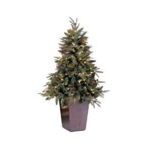 5 potted pre lit green river spruce medium artificial christmas tree clear lights walmart com