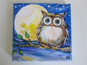 Owl Paintings On Canvas