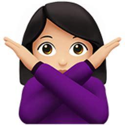 Light Skin Tone Emoji (u+1f645, U