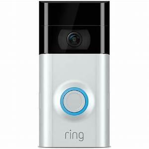 Ring 2 Night Vision IR 1080p WiFi Doorbell Security Camera ...