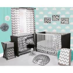 bacati ikat 4 crib bedding set white grey walmart