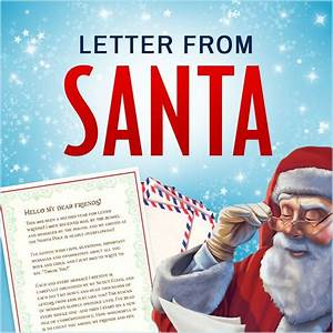 25 unique free letters from santa ideas on pinterest With letters from santa 2017