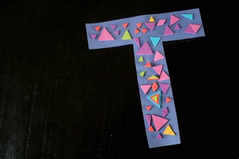 letter t arts and crafts for preschoolers letter t is for triangles preschool alphabet craft 45478
