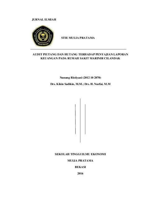 (PDF) AUDIT PIUTANG DAN HUTANG TERHADAP PENYAJIAN LAPORAN