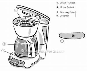 Mr  Coffee Tf12 Parts List And Diagram   Ereplacementparts Com
