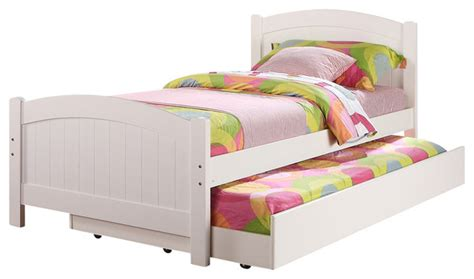 White Beadboard Bed : Subtle Curve Cottage Beadboard Paneling White Wood Twin