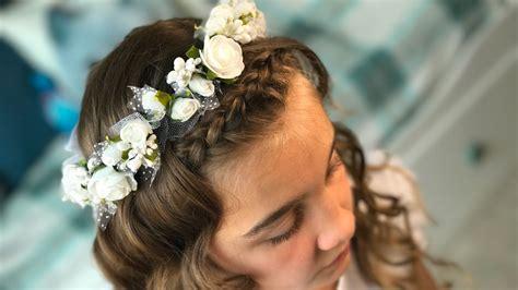 fryzura komunijna nr   communion hairstyle  youtube