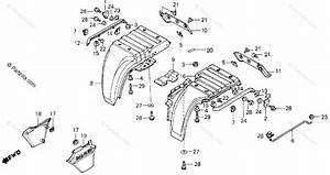 Honda Atv 1985 Oem Parts Diagram For Rear Fender