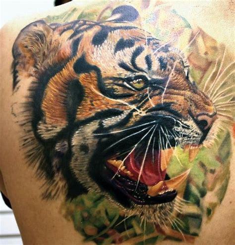 3d tier tattoos tiger back 3d tattoos cool design