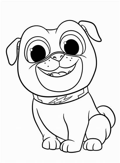 Coloring Puppy Printable Dog Pals Colouring Animal