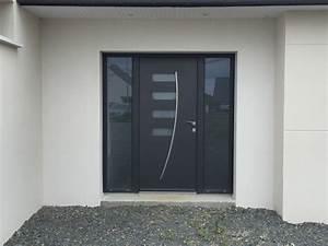 Elegance et modernite porte de garage et porte d39entree for Porte de garage avec portes interieures vitrees modernes
