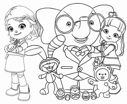 Ruby Rainbow Coloring Characters Pages Printable Cartoon