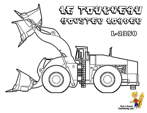 macho coloring pages  tractors construction  excavators bobcat