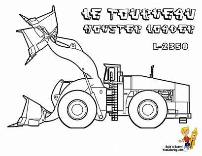 Construction Coloring Pages Printable L2350 Tractors Loader