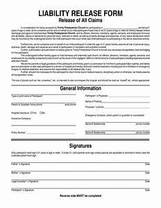 Free Printable Liability Form Form (GENERIC)