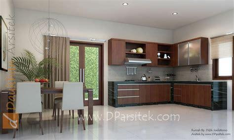 sketsa  ruang makan  dapur desain rumah  kota