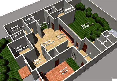 desain rumah minimalis  lantai  kamar home pinterest