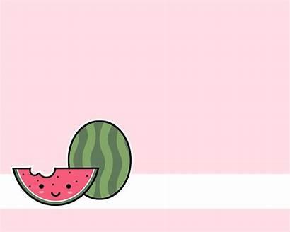 Kawaii Watermelon Computer Fanpop Wallpapersafari Code