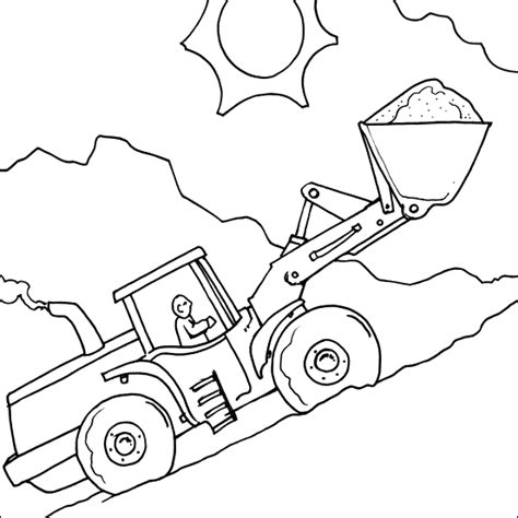 Coloring Jcb by Digger Colouring