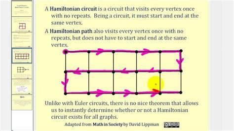 Graph Theory Hamiltonian Circuits Paths Youtube