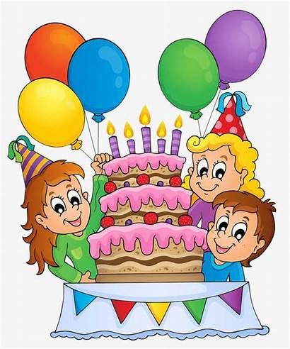Birthday Clipart Cartoon Celebration Drawing Celebrating Birthdayparty
