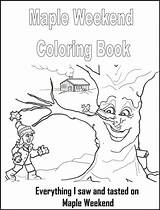 Maple Coloring Syrup Weekend Pages Activities Books Unit February Pre Winter Homeschool Sketches Clrg Template sketch template