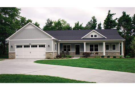 ranch style house plans with walkout basement open plan ranch with finished walkout basement hwbdo77020