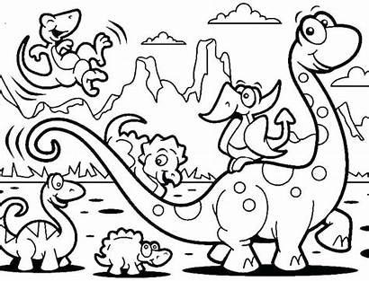 Coloring Animal Pages Dinosaurs