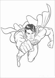 "Free printable Superman "" Super Hero "" Flying Coloring ..."