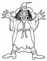 Witch Coloring Pages Print Witches Colouring Halloween sketch template