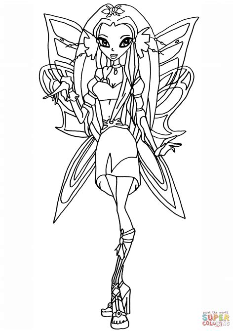 Kleurplaten Winx Club Believix by Winx Club Diana Coloring Page Free Printable