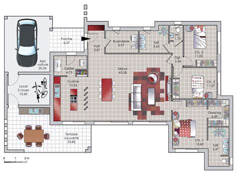 awesome incroyable plan de maison moderne ideas about plan