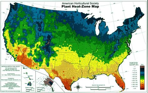 American Horticultural Society Heatzone Map  Out In The