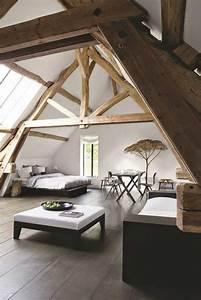 Poutre En Chene : decorer la chambre coucher avec une poutre en chene ~ Premium-room.com Idées de Décoration