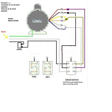 i a dayton 5k436j motor on a lathe set up for 115 volt i currently terminals t1 t3