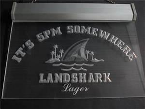 Landshark Lagen It s 5pm Somewhere Bar Beer Hairline LED