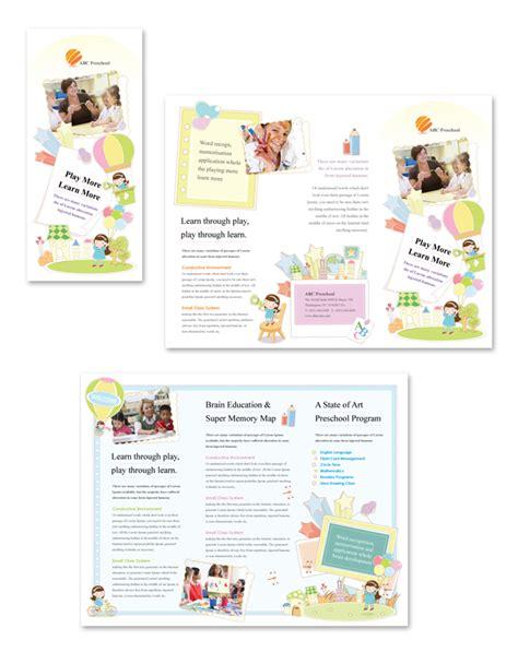 Preschool Brochure Template preschool tri fold brochure template